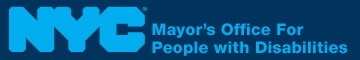 Logo for the NYC Mayor's office for people with disabilities